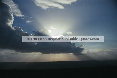 Afternoon Sun As Seen From Mount Arbel, Israel